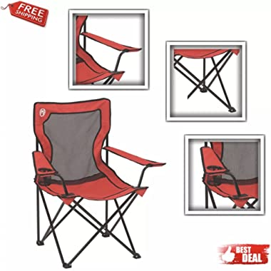 Camping Chair, Broadband mesh quad, Compact Ultralight, Portable Lightweight Folding Hiking Picnic and Table, for campers, hikers, backpackers, adventurers and anyone who loves outdoor activities