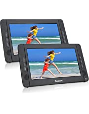 NAVISKAUTO 10,1 Zoll DVD Player Auto 2 Monitore Tragbarer DVD Player mit zusätzlichem Bildschirm 5 Stunden Akku Kopfstütze Monitor Fernseher Dual Bildschirm1014