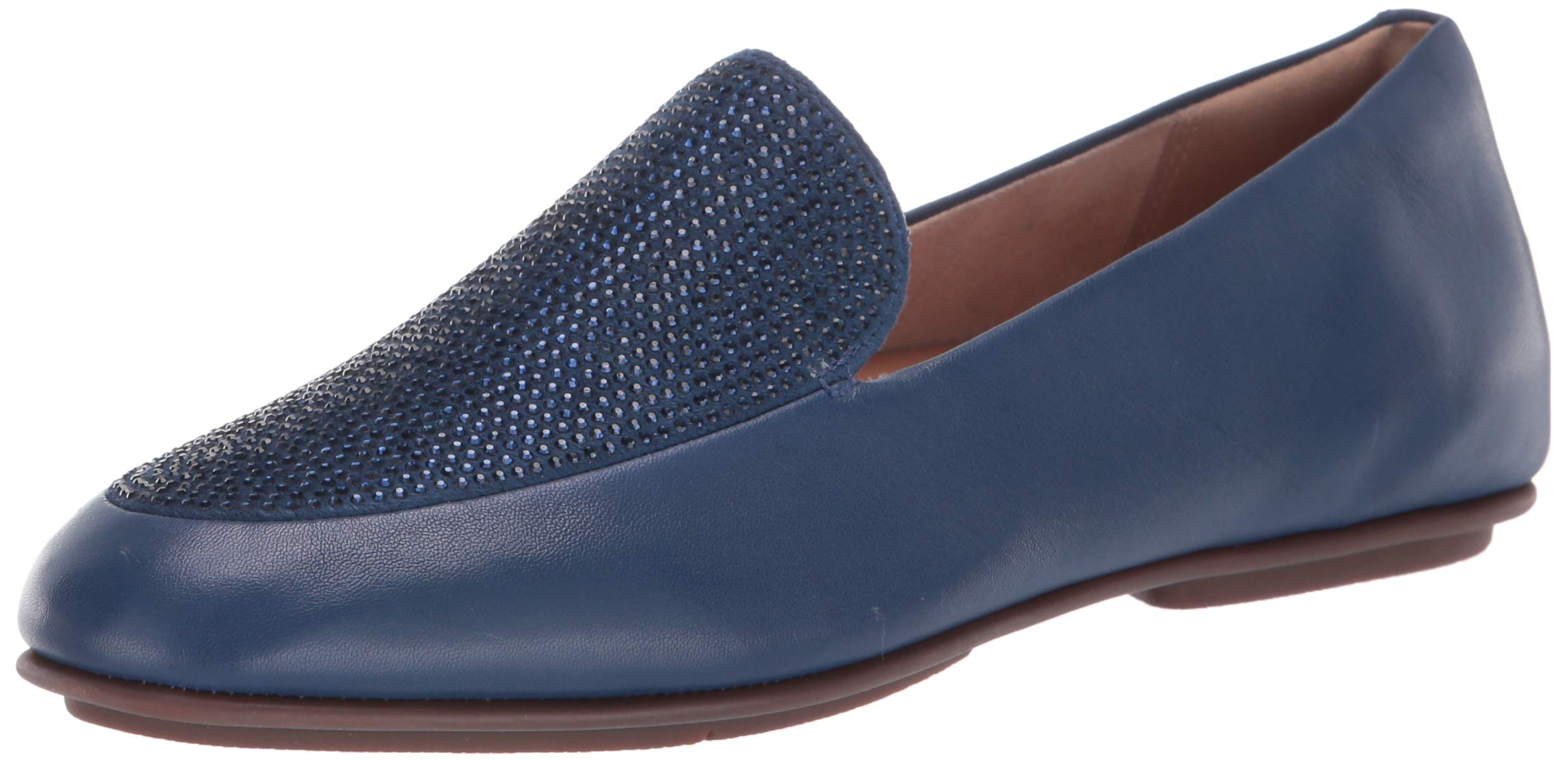 FITFLOP Women's Lena Crystal Loafers Flat, Aurora Blue, 9 M US by FITFLOP
