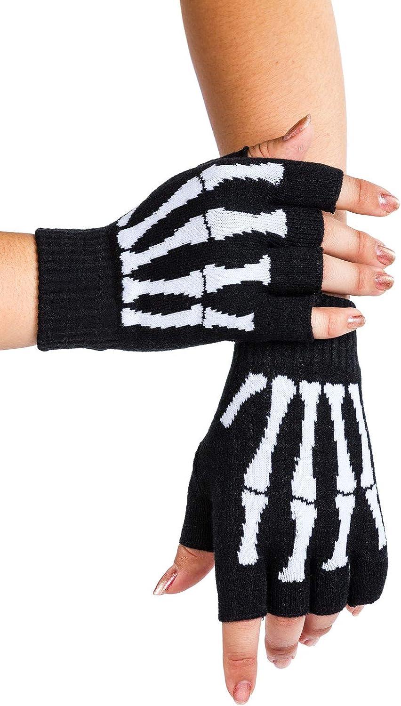 Tipsy Elves Fingerless Skeleton Gloves Skeleton Gloves Halloween Accessories