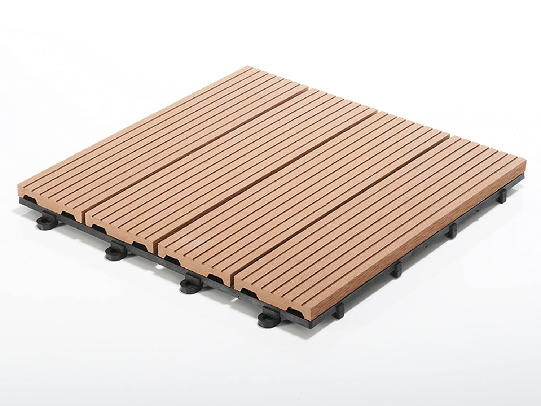 Terrassenfliesen Set Timber, braun | Menge wählbar, 33 Stück - 3m²