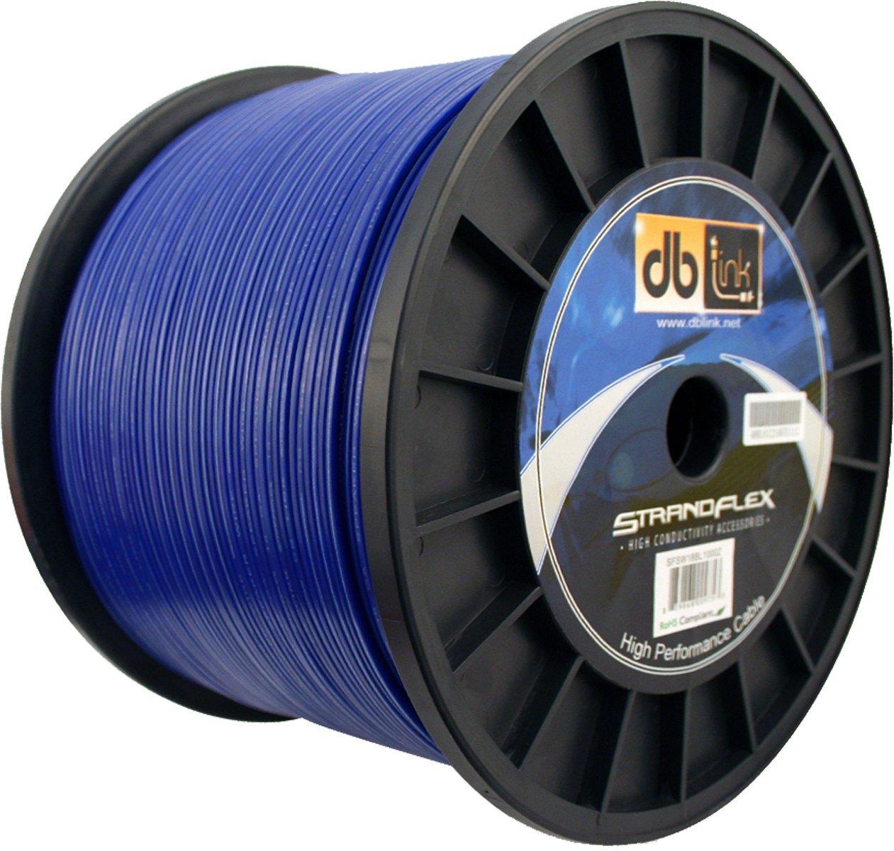 Blue Db Link SFSW18BL1000Z Square Jacket StrandFlex Power Wire Spools
