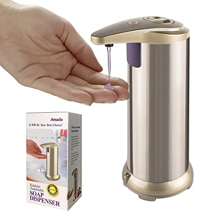 Amado Kitchen Automatic Soap Dispenser, Made Of Brushed Stainless Steel And  Waterproof Base, Automatic