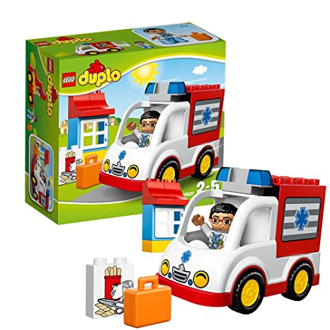 Amazoncom Lego Duplo Ville Ambulance Toys Games