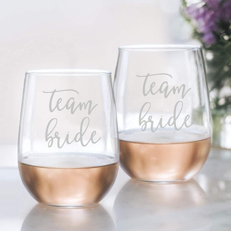 Wedding Bridal Party Gifts for Bridesmaids Proposal Box Idea brides Team Bride Wine Glasses