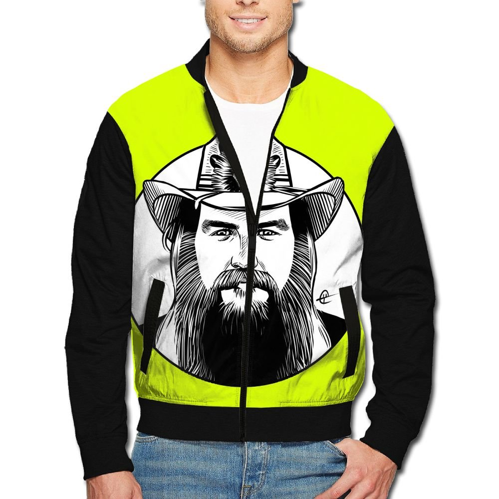 U3JD9D Chris-Stapleton Stand Collar Jacket Cartoon For Men