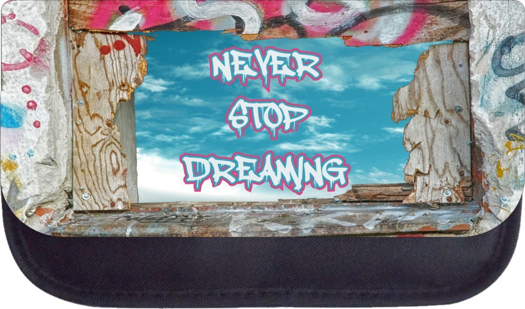 Never stop dreaming window Rosie Parker Inc TM Medium Sized Messenger Bag 11.75 x 15.5 and 4.5 x 8.5 Pencil Case SET