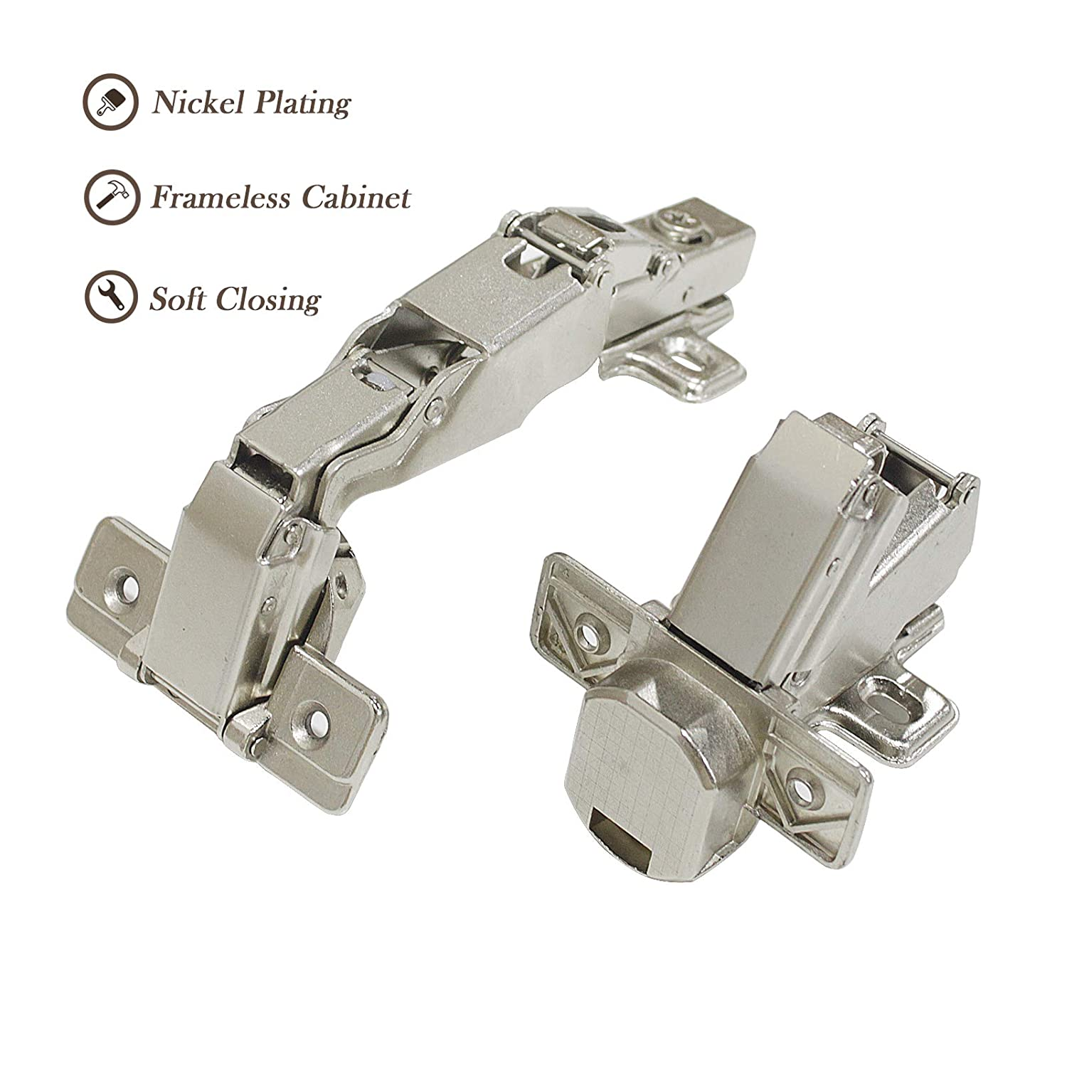 soft closing 165 degree hidden concealed kitchen cabinet door hinges rh amazon com