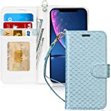 FYY Luxury PU Leather Wallet Case for iPhone XR, [Kickstand Feature] Flip Phone Case Folio Protective Shockproof Cover with [