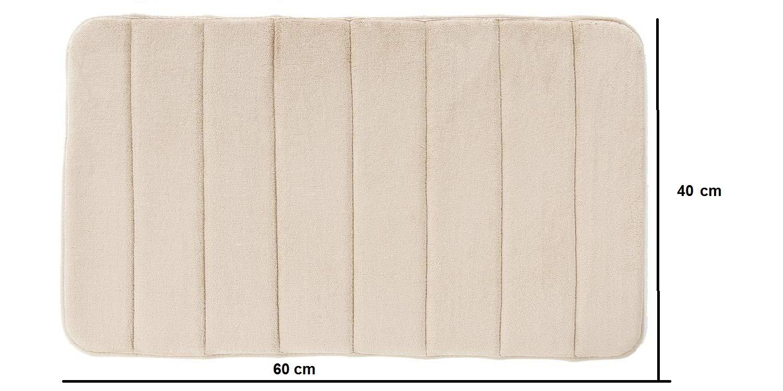 Tappeto da Bagno in Memory Foam Antiscivolo Beige, 60 x 40 cm Domowin Tappetino da Bagno Tappetino per Il Bagno Tappeti da Bagno