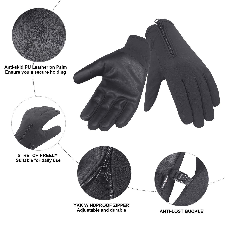 S Unigear Guantes de Invierno Super C/álido Impermeable Pantalla T/áctil A Prueba de Viento Antideslizante para Acampada y Senderismo Moto Ciclismo Hombre Mujer