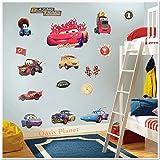 LARGE DISNEY PIXAR CARS / LIGHTNING MCQUEEN / MATER CHILDREN'S ROOM DECOR WALL STICKER 70 x 50cm