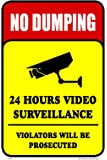No Dumping 24 Hours Video Surveillance Security Business Building Sign