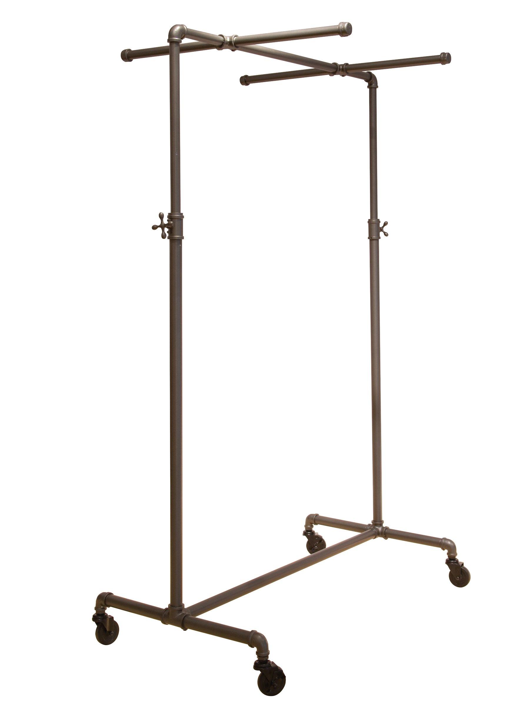 Econoco Pipeline Adjustable Ballet Rack with Two Cross Bars