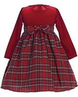 holidayfallchristmas stretch velvet plaid girls dress - Girls Plaid Christmas Dress