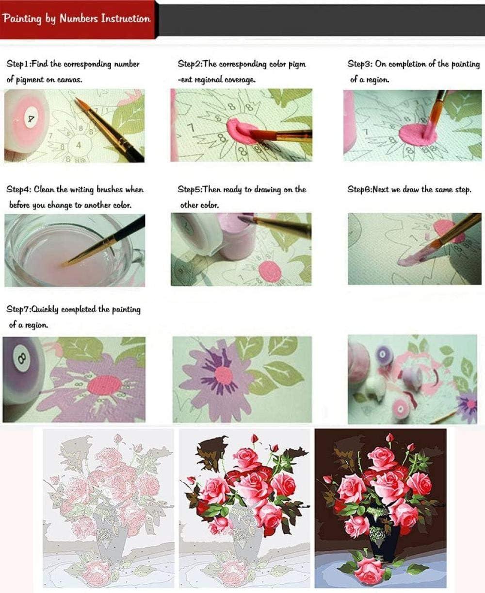 SexyGF DIY Conjunto Completo de Pintura al /óleo Kit Pintar por Numeros Adultos Ni/ños Playa