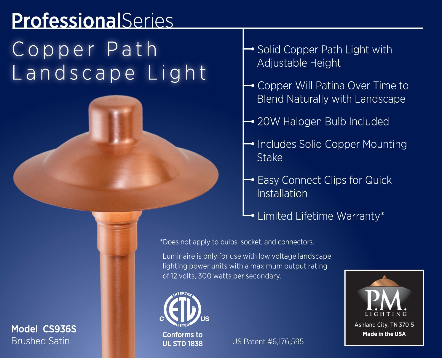 amazon com cs936s professional series copper path area light