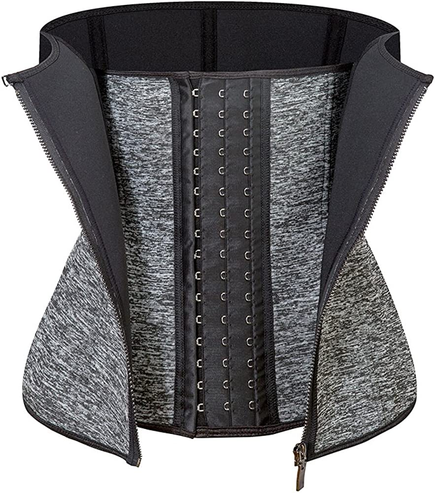 Details about  /Sports Body Shapers Girdle With Zippers For Ladies Slimming Waist Trainer Corset