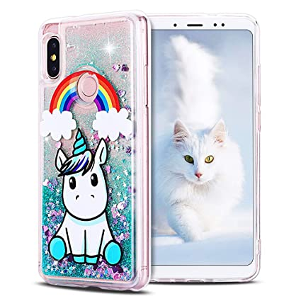 SpiritSun Funda Xiaomi Redmi Note 5, Silicona TPU Carcasa Transparente Líquido Bumper Tapa Quicksand Cubierta Trasero Flexible Suave Protectora Case ...