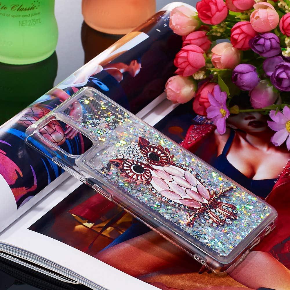 S/ü/ß gl/änzend funkeln Glitzer Bling fl/üssigkeit Quicksand schutzh/ülle klar zur/ück sto/ßfest schlank weich TPU silikon sto/ßstange Abdeckung HiCASE Pro H/ülle f/ür Samsung Galaxy A51