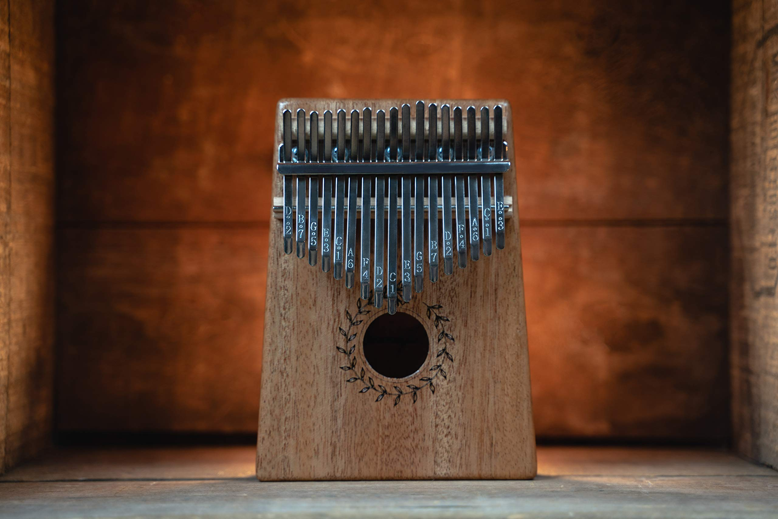 Soundful 17 Key Kalimba Thumb Piano, Solid Mahogany Body Finger Piano, Professional Mbira Musical Instrument with Tuning Hammer and Protective Case by Soundful (Image #7)