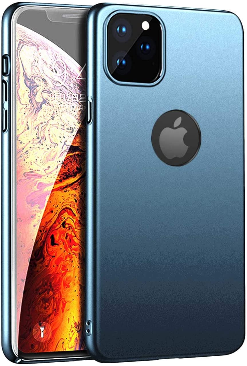 Compatible with iPhone 11 PRO MAX 6.5inch(2019) Case,Thin Slim Hard Plastic PC Case with Smooth Surface only Protection Shockproof Rugged Cove Designed for iPhone 11 PRO MAX 6.5inch(2019)-Dark Blue