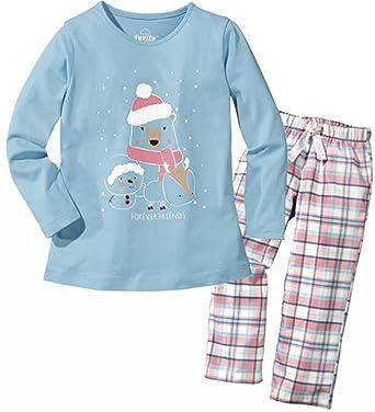 910d666e1 lupilu Girls' Pyjama Set - multicolour - 110/116 cm: Amazon.co.uk ...
