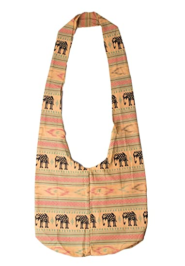 Amazon.com  Lofbaz Women s Elephant Spiral Crossbody Cotton Boho Bag  Elephant Beige One Size  Clothing 9326ec68b7aef