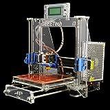 Ridgeyard Transparentes Aluminium 3D Printer DIY Full Kit für Reprap Prusa i3 MK2A Heatbed MK8 SD Speicherkarte/USB