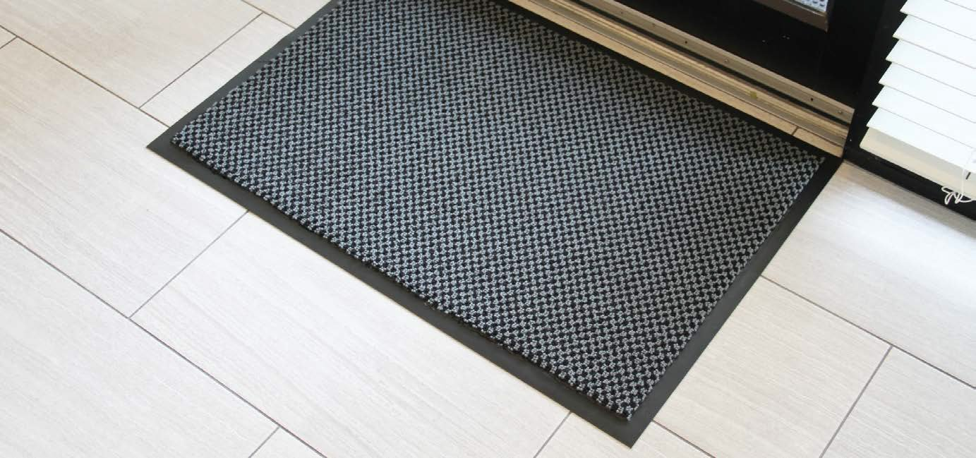 Guardian 64060865DS Diamond Series Dual-Purpose Indoor Floor Mat for Entrances and Common Walkways, 6' x 8', Black/Gray