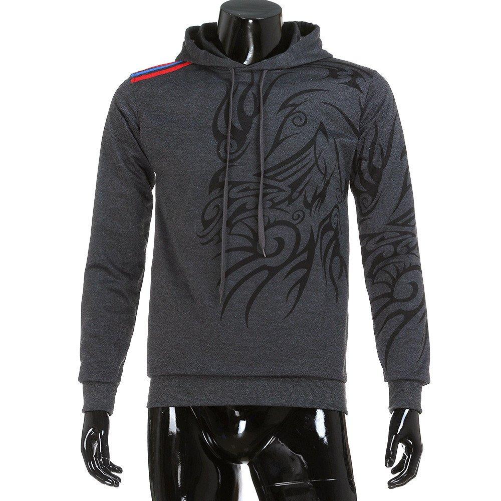 Lucky mall Männer Camouflage Nähen Hoodie Sweatshirt