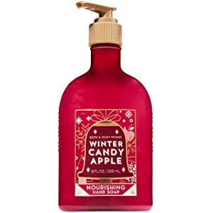 Bath and Body Works WINTER CANDY APPLE Nourishing Hand Soap 8 Fluid Ounce (2018 Edition)