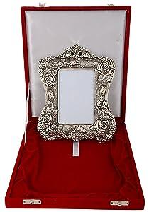 International Gift Aluminium Photo Frame (24 cm x 18 cm x 4 cm, Silver)