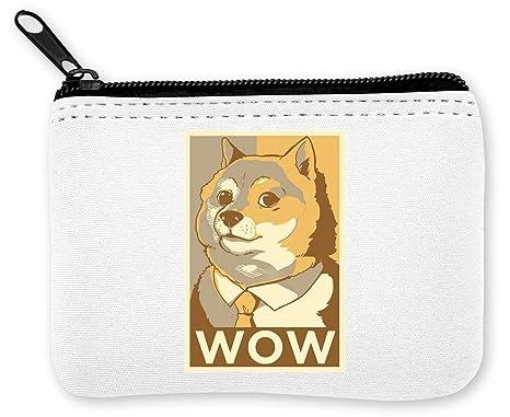Doge Such Wow Meme Monedero de la Cremallera de la Moneda