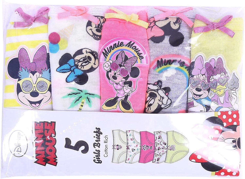 5X Mutande Colorate Minni Disney