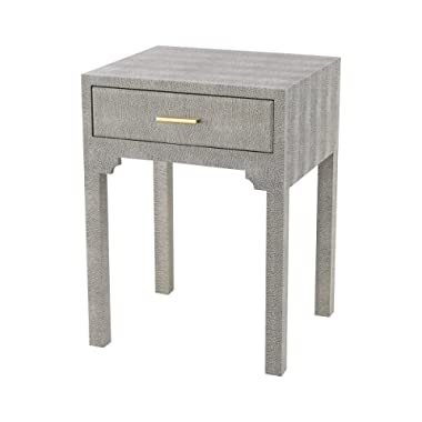 Sterling Home 3169-026S Sands Point Accent Side Drawer end Table, Gray