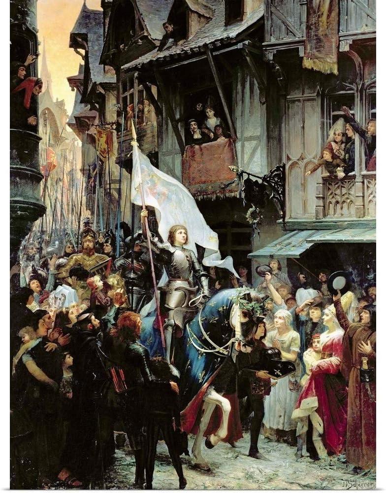 "GREATBIGCANVAS The Entrance of Joan of Arc into Fine Art Poster Print, History Home Decor Artwork, 18""x24"""