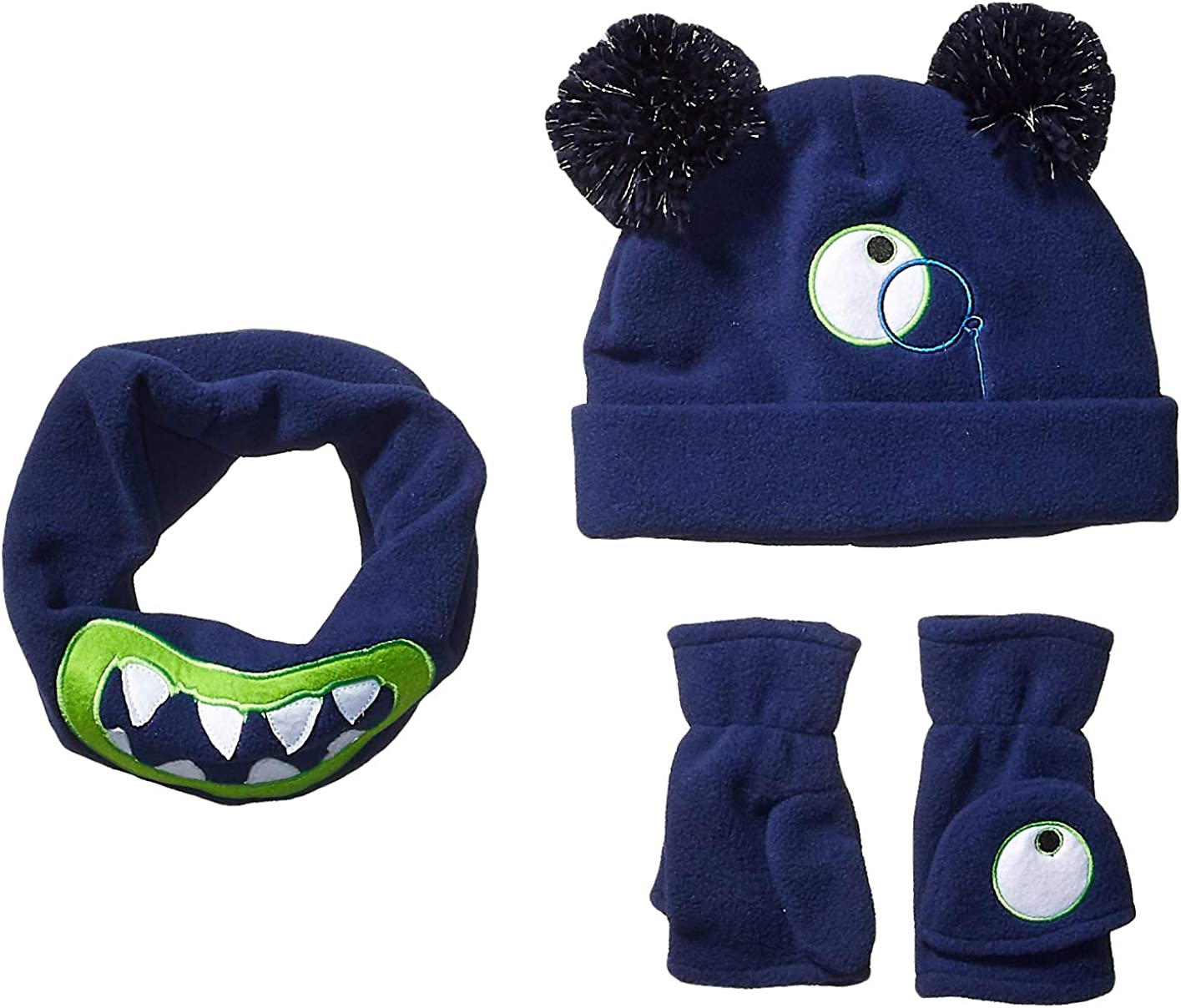 Spotted Zebra Boys' Fleece Hat Mittens Cold Weather Accessories Sets