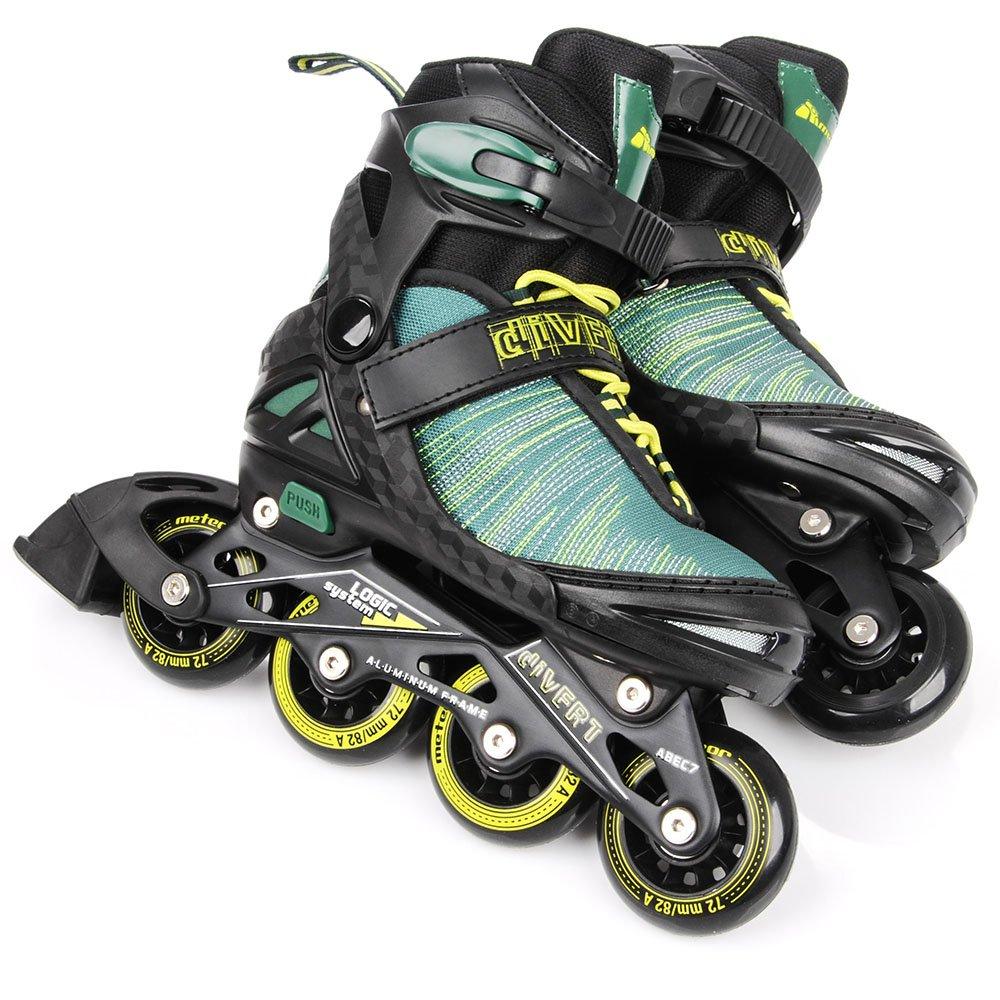 ABEC7 de carbono Hombre Ni/ños Mujer 30-33 // 34-37 // 38-41 METEOR/® AREA Patines en L/ínea Inline Skates Tama/ños ajustable