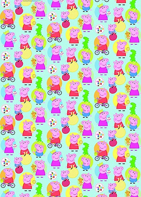 Peppa Pig 70 x 400 cm rollo de papel de regalo (: Amazon.es ...