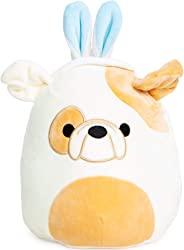 Squishmallows Easter 2020 Plush with Bunny Ears 9 inch (Brown Bulldog)