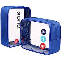 Eono Essentials - Neceser Transparente Unisex para organizar