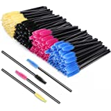 KEDSUM 200 pcs Disposable Eyelash Brush,Makeup Mascara Wands Applicator Eyebrow Brushes Eye Lash Makeup Tool,Multicolor