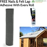 Super Grade 8m Shed Felt - Green (Including FREE Adhesive and Nails)
