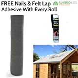 Premium 10m Shed Felt - Green (Including FREE Adhesive and Nails)