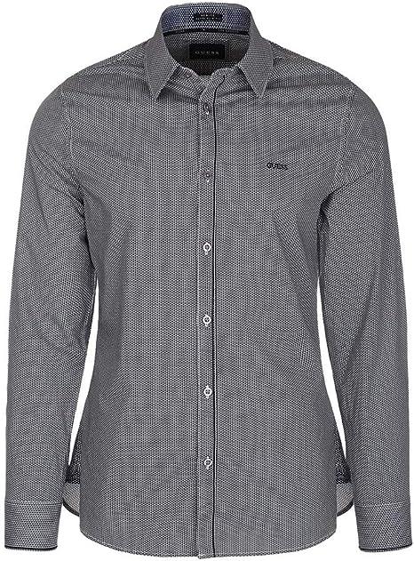 Guess M84H41W8BX0 - Camisa de hombre de algodón con cuello ...
