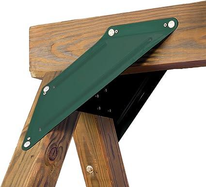 Swing Set Hardware 6.5 in x 20 in x 1 in Frame Brace Steel Rust Resistant 2-Pack