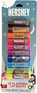 Hershey 10 Flavored Lip Balms (Pack of 1)
