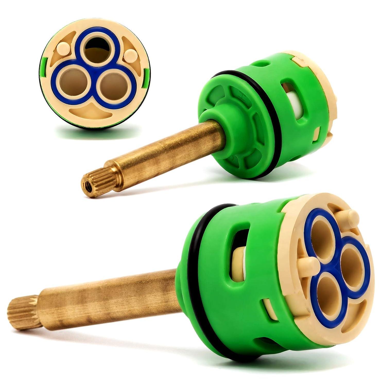 Rolli Cartucho Ducha Mezclador Monomando Universal Recambiable Ceramica V/álvula 3 Posiciones Lat/ón Desviador D 33mm L 65mm