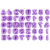 OUNONA 40Pcs Alphabet Cutters Letter Cutters Fondant Cookie Cutter Set for Cake Decorating